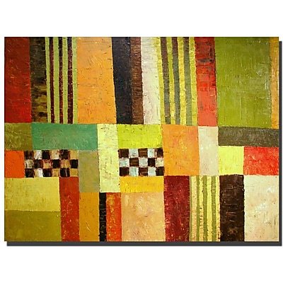 Trademark Fine Art Michelle Calkins 'Color Pattern Abstract' Canvas Art Ready 14x19 Inches