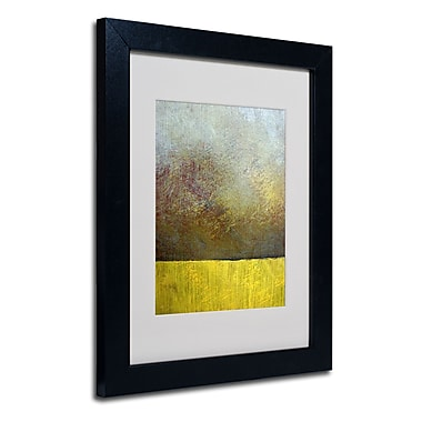 Trademark Fine Art Michelle Calkins 'Earth Study II' Matted Art Black Frame 11x14 Inches