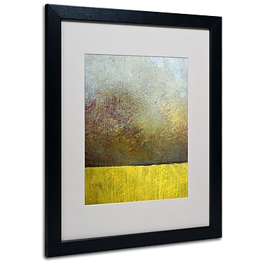 Trademark Fine Art Michelle Calkins 'Earth Study II' Matted Art Black Frame 16x20 Inches