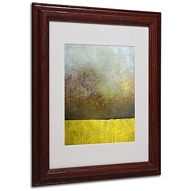 Michelle Calkins 'Earth Study II' Matted Framed Art - 11x14 Inches - Wood Frame