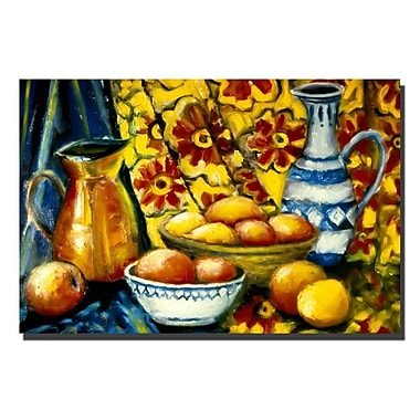 Trademark Fine Art Still Life with Oranges by Michelle Calkins-Canvas Art