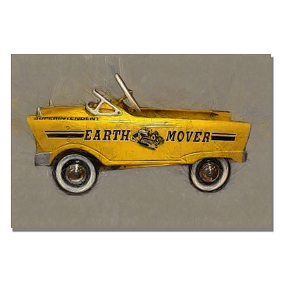 Trademark Fine Art Michelle Calkins 'Earth Mover Pedal Car' Canvas Art