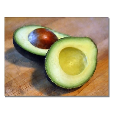 Trademark Fine Art Michelle Calkins 'Avocado' Canvas Art 18x24 Inches