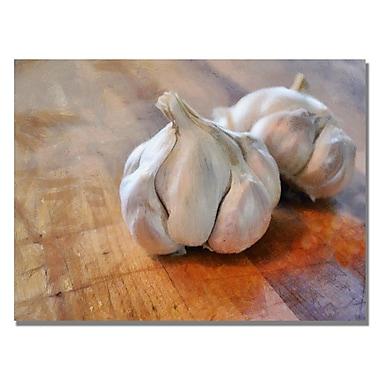 Trademark Fine Art Michelle Calkins 'Garlic' Canvas Art 18x24 Inches