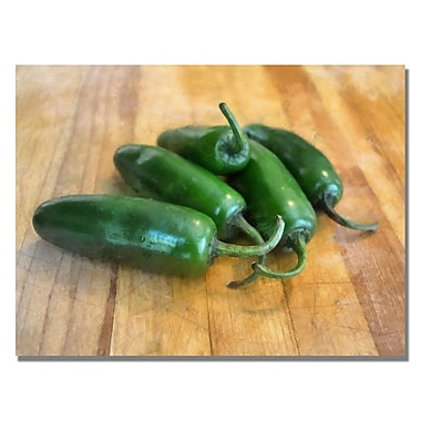 Trademark Fine Art Michelle Calkins 'Jalepenos' Canvas Art 35x47 Inches