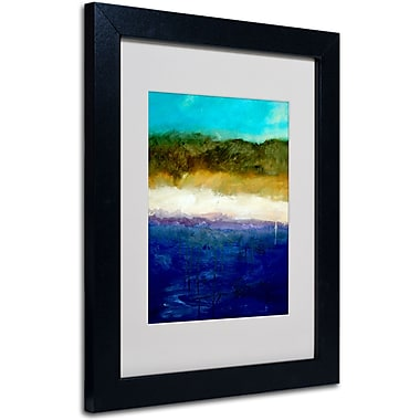 Trademark Fine Art Michelle Calkins 'Abstract Dunes Study' Matted Art Black Frame 11x14 Inches