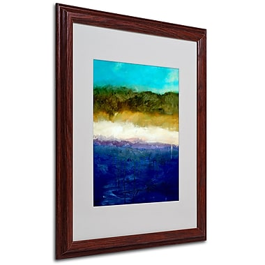 Michelle Calkins 'Abstract Dunes Study' Framed Matted Art - 11x14 Inches - Wood Frame