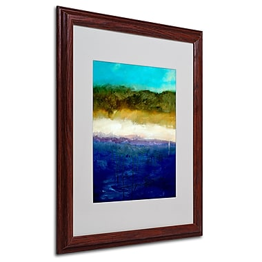 Michelle Calkins 'Abstract Dunes Study' Framed Matted Art - 16x20 Inches - Wood Frame