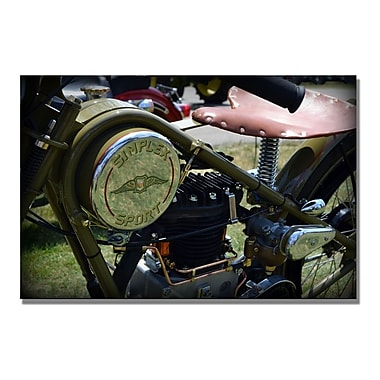Trademark Fine Art Michelle Calkins '1944 Simplex Sport' Canvas Art 35x47 Inches