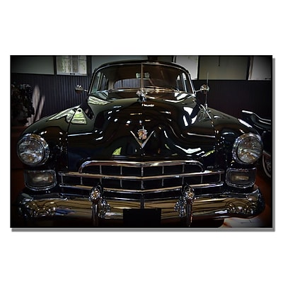 Trademark Fine Art Michelle Calkins '1948 Cadillac Front' Canvas Art 16x24 Inches