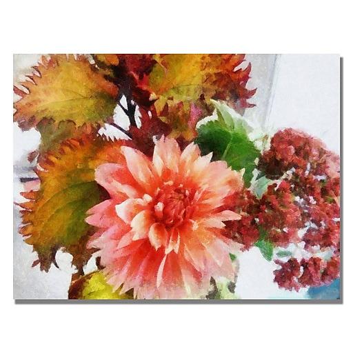 Trademark Fine Art Michelle Calkins 'Autumn Joy' Canvas Art 35x47 Inches