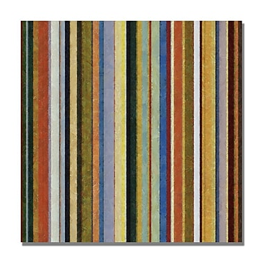 Trademark Fine Art Michelle Calkins 'Comfortable Stripes V' Canvas Art 18x18 Inches