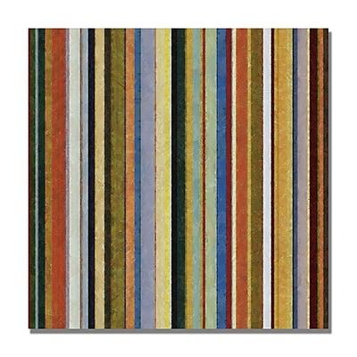 Trademark Fine Art Michelle Calkins 'Comfortable Stripes V' Canvas Art 18x18 Inches