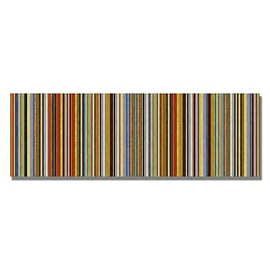 Trademark Fine Art Michelle Calkins 'Comfortable Stripes VII' Canvas Art 8x24 Inches