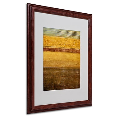 Michelle Calkins 'Earth Layers Abstract' Framed Matted Art - 16x20 Inches - Wood Frame