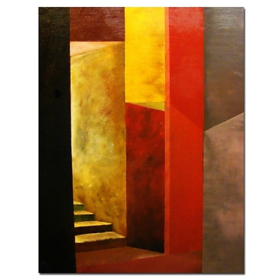 Trademark Fine Art Mystery Stairway by Michelle Calkins-Canvas Art 14x18 Inches