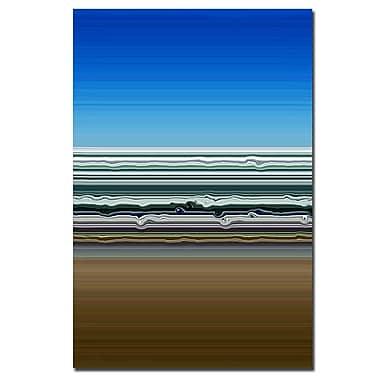 Trademark Fine Art Michelle Calkins 'Sky Water Sand' Canvas Art