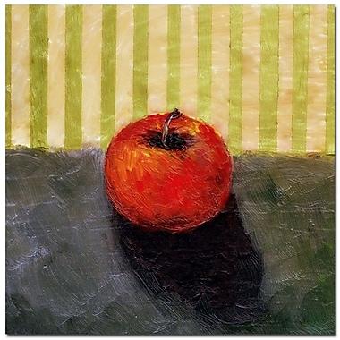 Trademark Fine Art Michelle Calkins 'Red Apple Still Life' Canvas Art 18x18 Inches