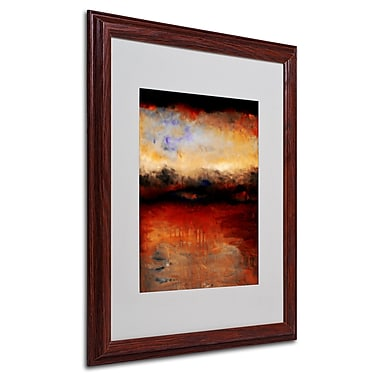 Michelle Calkins 'Red Skies at Night' Framed Matted Art - 16x20 Inches - Wood Frame