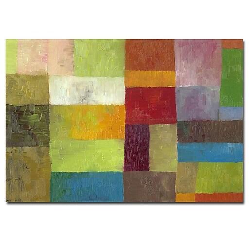 Trademark Fine Art Michelle Calkins 'Abstract Color Panels IV' Canvas Art