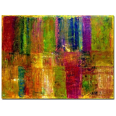 Trademark Fine Art Michelle Calkins 'Color Panel Abstract' Canvas Art
