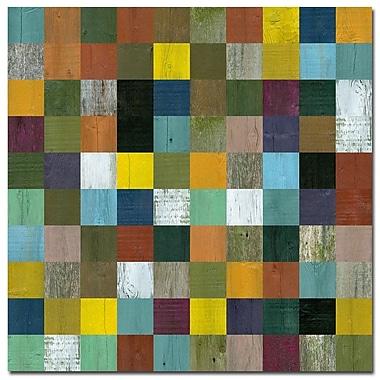 Trademark Fine Art Michelle Callkins 'Rustic Wooden Abstract III' Canvas Art