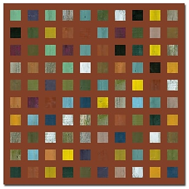 Trademark Fine Art Michelle Callkins 'Rustic Wooden Abstract VIII' Canvas Art