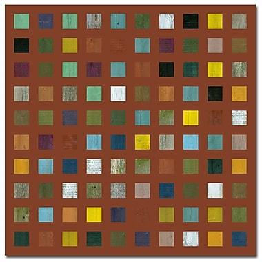 Trademark Fine Art Michelle Callkins 'Rustic Wooden Abstract IX' Canvas Art, MC100-C3535GG
