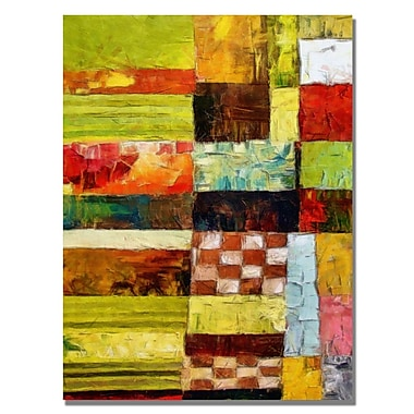 Trademark Fine Art Michelle Calkins 'Checkers and Stripes' Canvas Art