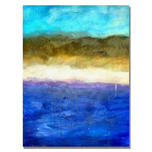Trademark Fine Art Michelle Calkins 'Abstract Dunes' Canvas Art 24x32 Inches