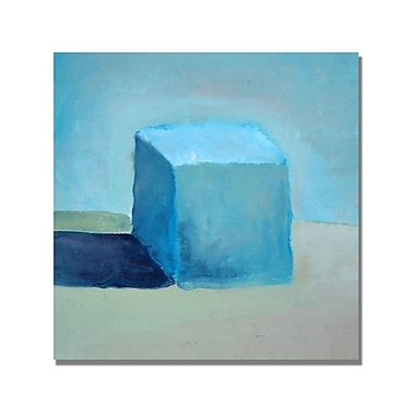 Trademark Fine Art Michelle Calkins 'Blue Cube Still Life' Canvas Art