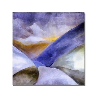 Trademark Fine Art Michelle Calkins 'Mountain Landscape' Canvas Art