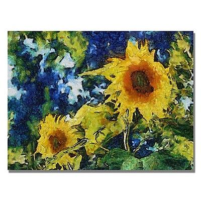 Trademark Fine Art Michelle Calkins 'Sunflowers' Canvas Art