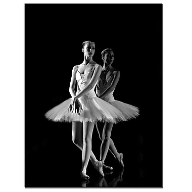 Trademark Fine Art Ballerina by Martha Guerra-Canvas Art Ready to Hang, MG0002-C1824GG