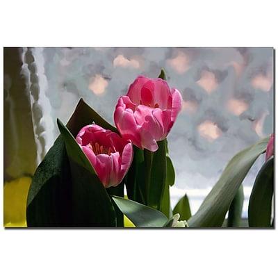 Trademark Fine Art Martha Guerra 'Violets' Canvas Art