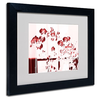 Trademark Fine Art Miguel Paredes 'Red Orchids' Matted Art Black Frame 11x14 Inches