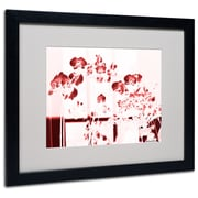 Trademark Fine Art Miguel Paredes 'Red Orchids' Matted Art Black Frame 16x20 Inches