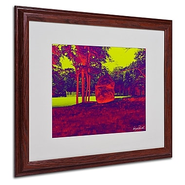 Miguel Paredes 'Enchanted Rock II' Matted Framed Art - 16x20 Inches - Wood Frame