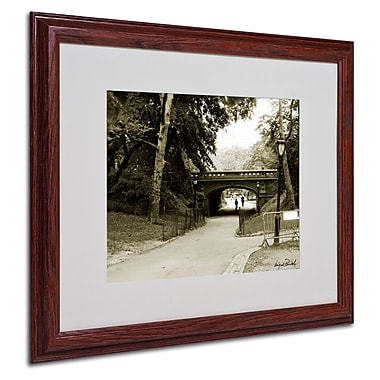 Miguel Paredes 'Passage I' Matted Framed Art - 16x20 Inches - Wood Frame