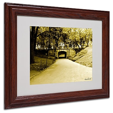 Miguel Paredes 'Passage II' Matted Framed Art - 11x14 Inches - Wood Frame