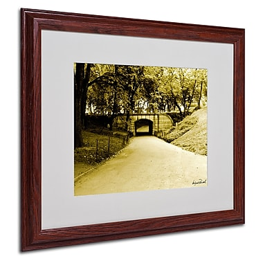 Miguel Paredes 'Passage II' Matted Framed Art - 16x20 Inches - Wood Frame