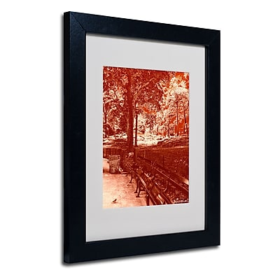 Trademark Fine Art Miguel Paredes 'Red Forest' Matted Art Black Frame 11x14 Inches