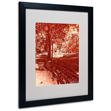Trademark Fine Art Miguel Paredes 'Red Forest' Matted Art Black Frame 16x20 Inches