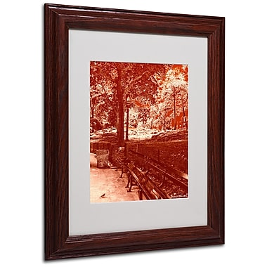 Miguel Paredes 'Red Forest' Matted Framed Art - 11x14 Inches - Wood Frame