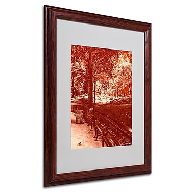Miguel Paredes 'Red Forest' Matted Framed Art - 16x20 Inches - Wood Frame