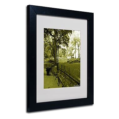 Trademark Fine Art Miguel Paredes 'Pines IV' Matted Art Black Frame 11x14 Inches