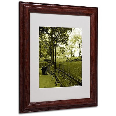 Miguel Paredes 'Pines IV' Matted Framed Art - 11x14 Inches - Wood Frame