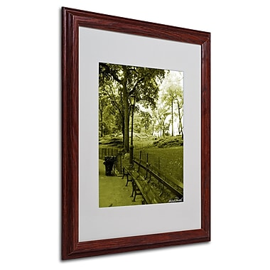 Miguel Paredes 'Pines IV' Matted Framed Art - 16x20 Inches - Wood Frame