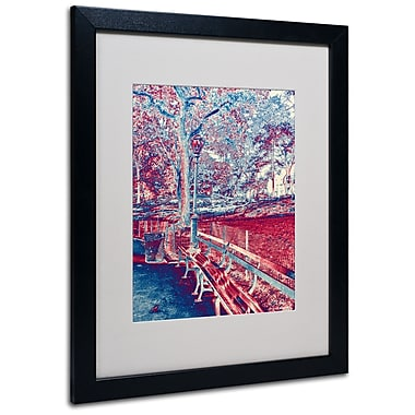 Trademark Fine Art Miguel Paredes 'Red Blue I' Matted Art Black Frame 16x20 Inches