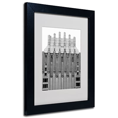 Trademark Fine Art Miguel Paredes 'Building I' Matted Art Black Frame 11x14 Inches